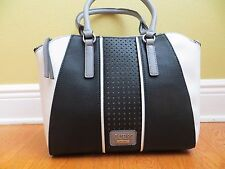 NWT Guess Arvin Satchel Purse Handbag Crossbody BLACK MULTI