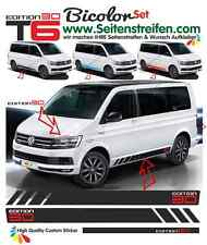 Vw bus t6 Multivan Edition 30 pages Bandes Autocollant Décor set bicolore set