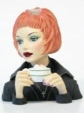 "Cameo Girls Head Vase Judith 2001 ""Latte Grande"" MIB  FREE SHIPPING"