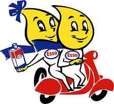 "ESSO GAS MASCOT vinyl cut sticker decal 6"" vintage full color"