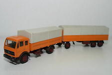 NZG N.Z.G. 146 MRECEDES BENZ MERCEDES-BENZ TRUCK WITH TRAILER ORANGE EXCELLENT