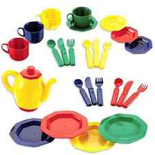 Educational Insights Dishes Set Play Tea Dish Kids Pretend Toy Kitchen Childs