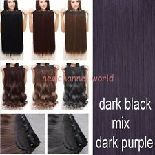 Real Thick 1pcs Clip in 3/4 Full Head Hair Extensions Extension as human hair N