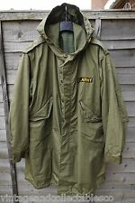 M1951 Fishtail Parka & Second pattern Liner Stamped Size Large Mod M-51 Parka