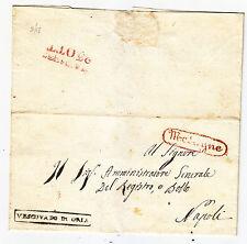 V591-REGNO DI NAPOLI-PREF. DA MESAGNE A NAPOLI 23/10/1837