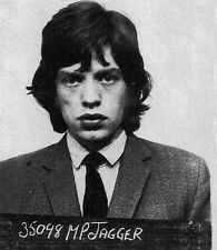 "Mick Jagger Mug Shot The Rolling Stones 14 x 11"" Photo Print"