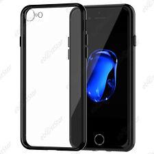 """Housse Etui Coque Rigide Transparent Bumper Transparent/Noir Apple iPhone 7 4.7"""""""