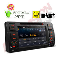 Quad-Core Android 5.1 Car Headunit DVD Stereo GPS Sat-Nav WiFi BMW E46 330 320