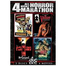 4 All Night Horror Marathon, Vol. 1 (4 Movies, 2-Disc Set) DVD [V08]
