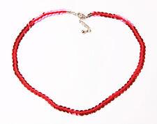 Llamativo Partido Listo Ruby Lentejuelas Cadena Collar Con 5 Cm Hebilla Ajustable (zx40)