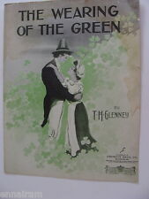 The Wearing of the Green 1908 sheet music Glenney Irish song  Bromo-Seltzer Ad