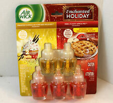Air wick refill lot of 5 vanilla cupcake apple pie Enchanted Holiday edition