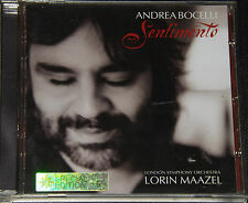 CD Album 2002 ANDREA BOCELLI Sentimento London Symphony Lorin Maazel
