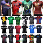 Mens T-shirt Marvel Compression Cycling Stretch Cosplay Jersey Tight Gym Tops