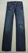 Victoria Beckham for Rock&Republic Jeans Distressed Blue size 26 Waist 28 New