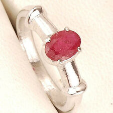 TOP QUALITY UNTREATED NATURAL AFRICAN RUBY 925 STERLING SILVER RING ~ SELENEGEMS