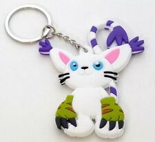 Digimon Gatomon Rubber Keychain 3 Inches Double Sided US Seller