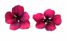 2x Fuchsia Pink Hibiscus Flower Hair Pins Clips Tropical Beach Bridal Hawaii 500