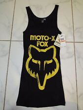 FOX RACING WOMENS TANK TOP SMALL BLACK NWT