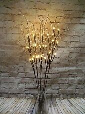 5 Set warm white  wire twigs 30 lights free batteries WEDDINGS Gift ,Xmas