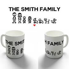 PERSONALISED YOUR STICK FAMILY COFFEE MUG TEA CUP BIRTHDAY CHRISTMAS GIFT
