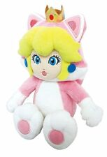 "Sanei Super Mario 3D World Neko Cat Princess Peach 9"" Plush Doll"