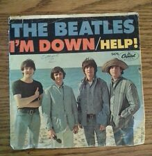 """The Beatles I'm Down Help 45RPM 7"""" Capitol Records 5476 Picture Sleeve Help! VG"""
