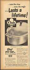 1949-Vintage ad for Club Aluminum` Hammercraft Waterless Cookware photo (080115)