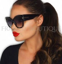 LUXE BLACK Catseye SUNGLASSES Shield SUNGLASSES Celebrity (Gloss Frame) .5