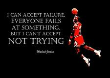 Inspiration Michael Jordan Basketball cite l'affiche / impression / photo (1)