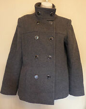 Hobbs London UK10 EU38 US6 grey-mix wool/cashmere double-breasted lined jacket