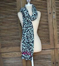 NEW LOUIS VUITTON Sprouse Leopard Logo Stole Scarf Cotton Green Navy Blue Italy
