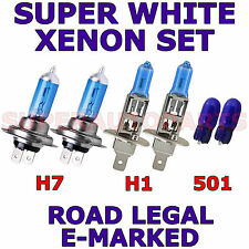 FITS  CITROEN C3 PLURIER 2003 SET H7 H1 501 XENON SUPER WHITE LIGHT BULBS