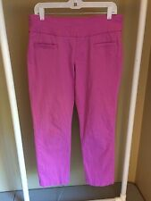 Jag Women's Pink Stretch Slim Fit Chino Pants Size 10 (34 X 27) N42
