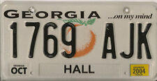 GEORGIA 2004 GRAPHIC EMBOSSED LICENSE PLATE 1769 AJK $9.99 NO RESERVE!!!!