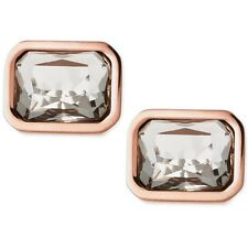 Michael Kors Rose Gold And Grey Stone Stud Earrings!! Nwt!! Msrp $75.00