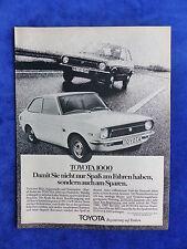 Toyota 1000 - Werbeanzeige Reklame Advertisement 1976 __ (074