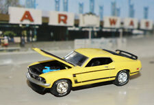 YELLOW 1969 69 FORD MUSTANG BOSS 302 LIMITED 1/64 SCALE DIECAST CAR GREENLIGHT