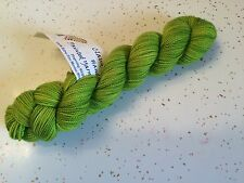 Claudia Hand Painted Yarns Fingering Weight One Skein Limeade Green Wool