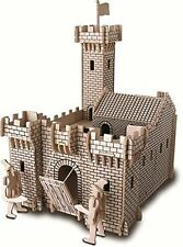 Knight Castle: Woodcraft Quay Construction Wooden 3D Model Kit P314 Age 7 plus