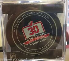 MARTIN BRODEUR NEW JERSEY DEVILS OFFICIAL RETIREMENT GAME PUCK 2/9 RARE #30