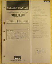Sansui SE-500 Stereo Graphic Equalizer Service Manual vtg Repair Information