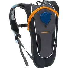Outdoor Products Kilometer 8.0 2L Hydration Pack Black Grey Hiking Cycling 6A14