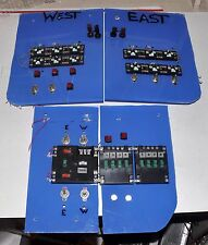 CUSTOM ATLAS HO TRACK CONTROLS SWITCH PANELS SYSTEM FOR MULTI TRAINS & TURNTABLE