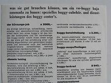 Prospekt / Preisliste für Zubehör - VW buggy baja ensenada, Blatt aus Österreich