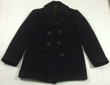 Vintage Naval CLOTHING SUPPLY OFFICE Navy Heavy Wool Peacoat Named Coat sz 38