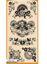 """Zombie Day of the Dead Muerto 4x8"""" sheet 7pc Sugar skull Mexico religion Vintage"""