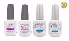 2 SETS -Gelish Harmony Soak off Gel Color FOUNDATION (Base) and TOP COAT 0.5 oz