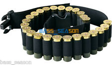 Black 25 Round Shotgun Shell Belt Hunting waist Shotgun shells Ammo Pouch