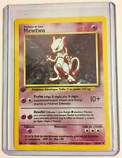 Pokemon MEWTWO 1st Edition FRENCH Base 10/102 HOLO Rare MINT CONDITION